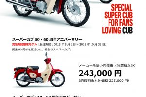 Super Cub 60th anniversary