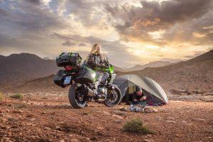 『夏にはバイクでソロキャンプ』